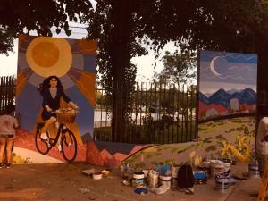 Capital: un nuevo mural le dará la bienvenida a las ciclovías