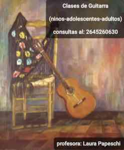Clases de guitarra con Laura Papeschi