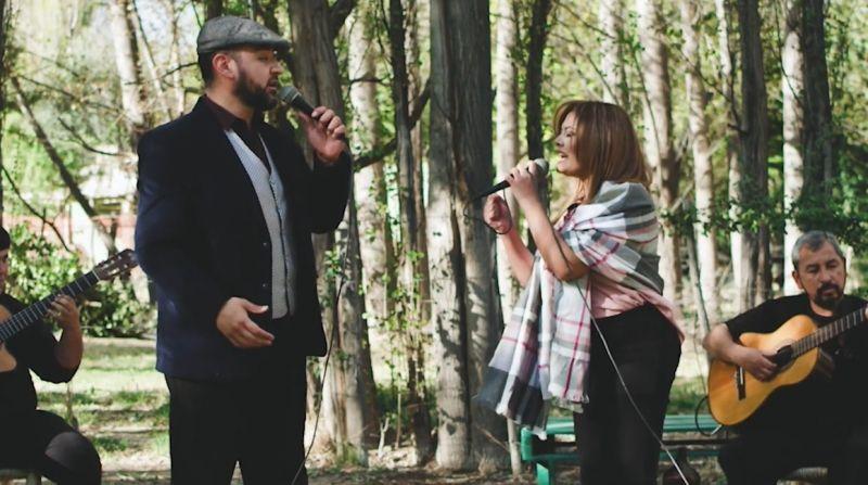 Giselle Aldeco y Claudio Rojas