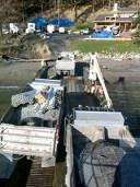 Blakely three material trucks