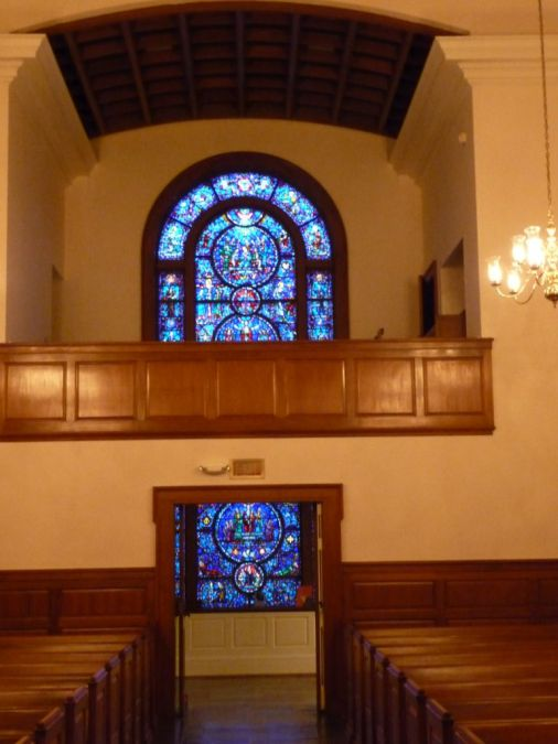 The Upper Room Chapel Balcony & World Christian Fellowship Window