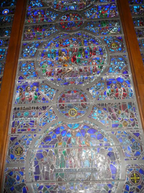 The World Christian Fellowship Window Lower Panel