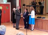 The Mayor & Mayoress of St Helens Welcoming The Rev'd Linda Bishop & Deacon Julie Hudson