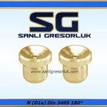 Gresorluk Cukur Basliğ Cakma Duz Tip Pirinc 180 ° N (D1a) DIN 3405