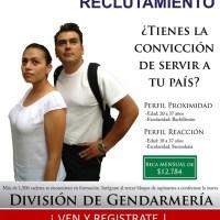 Abre PF registro para aspirantes a Gendarmería Nacional