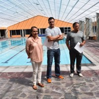 Inauguró el Club Deportivo 2000, su nueva alberca techada
