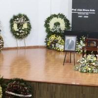 Realizan homenaje luctuoso a líder de la Sección 26 del SNTE, acudió el Gobernador, JM Carreras