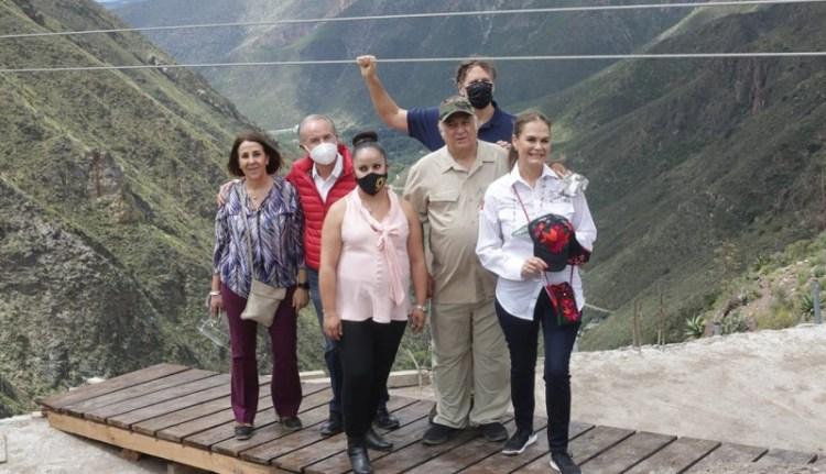 JM Carreras, Christopher Landau y Miguel Torruco, inauguran obras de mejoramiento en Real De Catorce