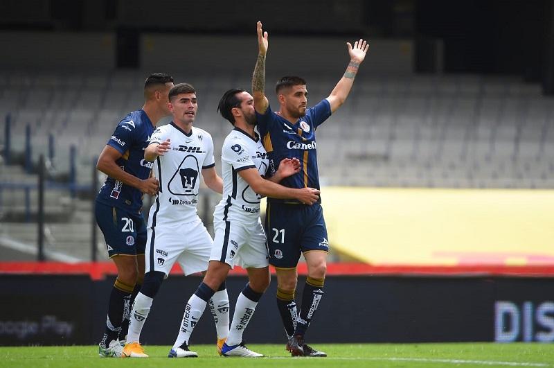 Pumas le pasó por encima al Atléti de San Luis con un 3-0