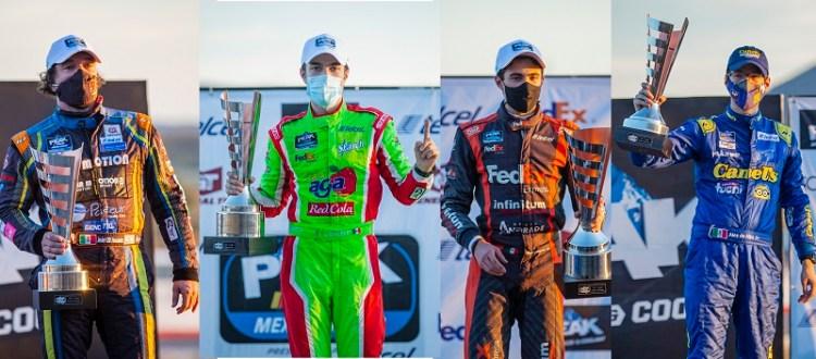 Vencieron el reto del óvalo potosino 28 pilotos Nascar Peak México Series