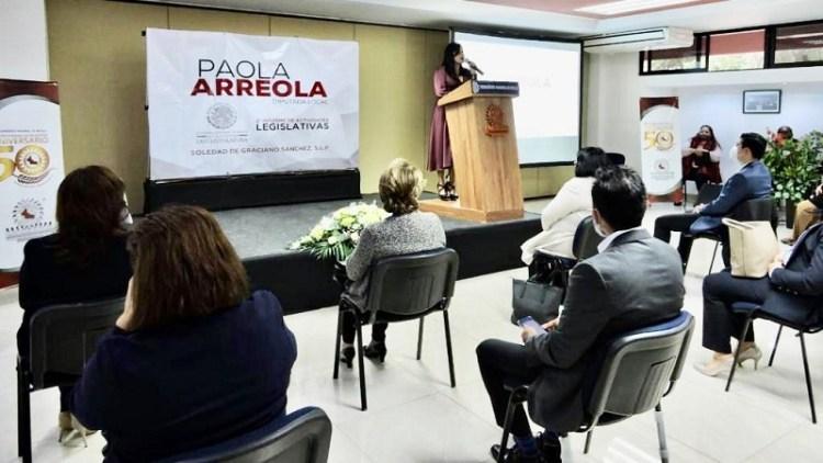 Paola Arreola presentó su segundo informe de actividades legislativas