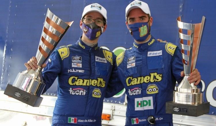 Llegó la Victoria para Alex de Alba Jr y lo hizo en EcoCentro Querétaro Fecha 6 NASCAR, García Jr. fue 2° en Peak
