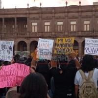 Mujeres potosinas exigieron un alto a la violencia contra las mujeres