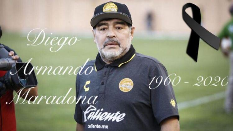Murió Maradona, se fue el D10S del futbol