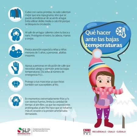 Pronostican bajas temperaturas por frente frío 17