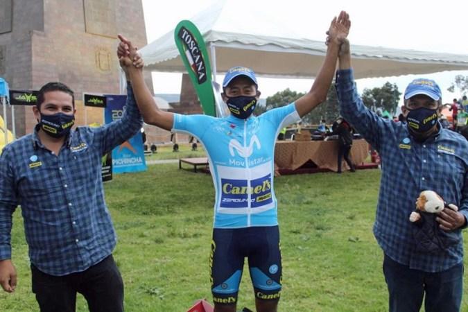 Efrén Santos deCanel's-ZeroUnoganó la última etapade la Vuelta Ciclística Ecuador 2020