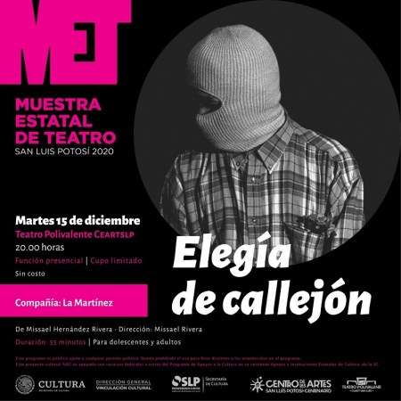 Prepara SECULT Muestra Estatal de Teatro SLP 2020
