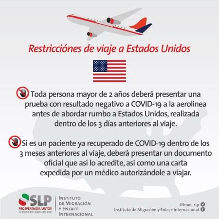 Nuevos requisitos para ingresar a Estados Unidos vía aérea