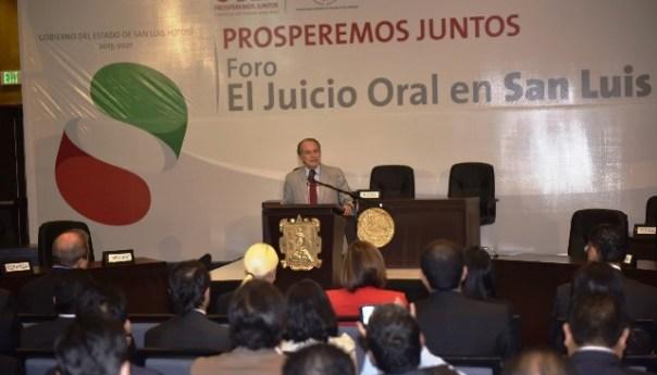 JM Carrera López Inaugura el Foro de Juicio Oral