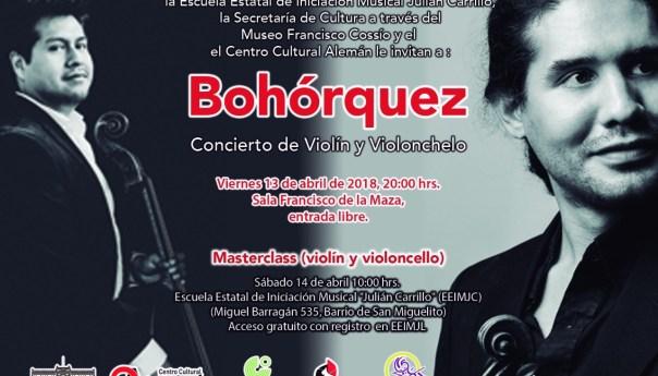 Invita el Museo Francisco Cossío y Centro Cultural Alemán y a concierto de violín y violonchelo
