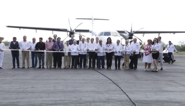 JM Carreras y Miguel Torruco inauguran ruta aérea Ciudad De México-Tamuín