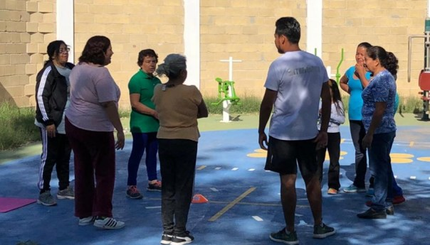 La dirección de deporte municipal de Soledad de GS realizó activación física en la unidad deportiva foresta