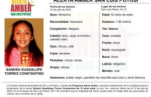 Fiscalía activa alerta amber para localizar a una menor de 12 años de edad