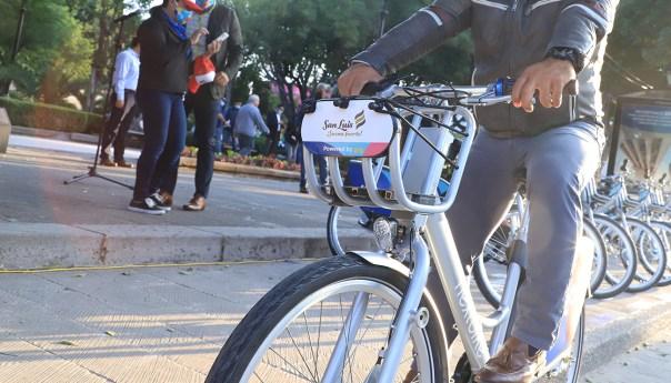 En menos de 24 horas, 5 mil potosinos se suscriben a sistema de bicicleta compartida
