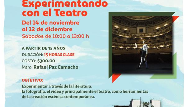 Experimentando con el teatro, próximo taller virtual de teatro en el IPBA