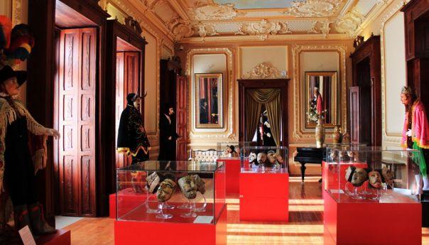 Máscaras e indumentaria de la Danza de Chapayeca en el Museo Nacional de la Máscara