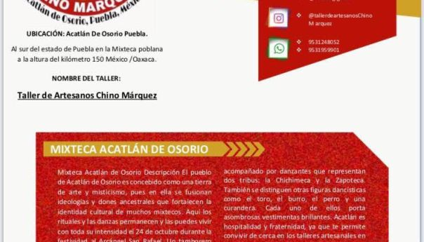 Taller de Artesanos Chino Márquez de Acatlán de Osorio, Puebla