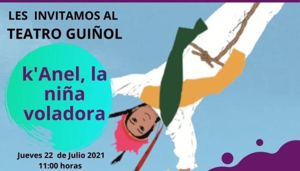 Invitan a presentación en teatro guiñol de k´anel la niña voladora