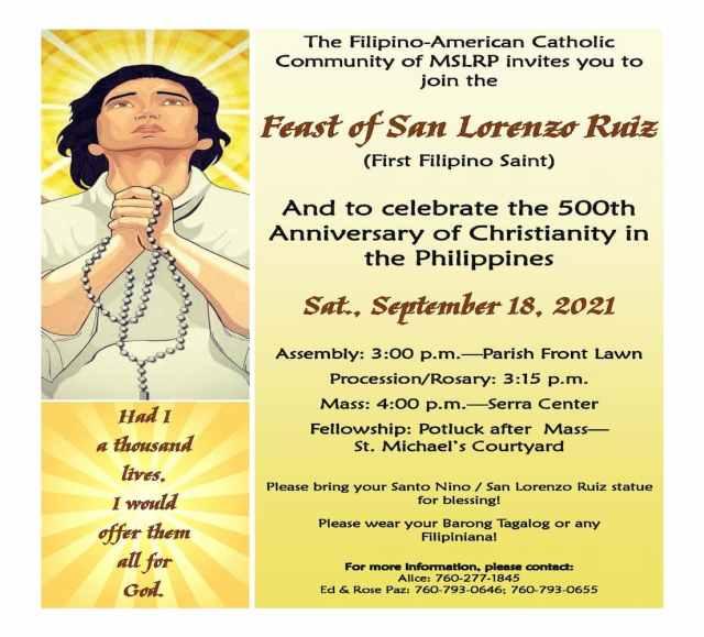 Feast of San Lorenzo Ruiz