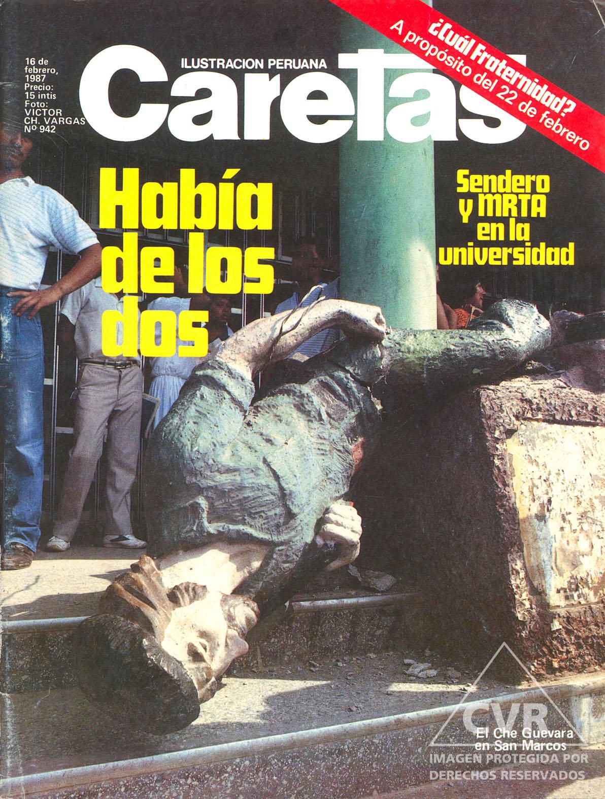 Portada Caretas 1987. Víctor Ch. Vargas