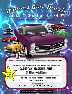 4th Annual Motors for Music Charity Car Show - San Marcos