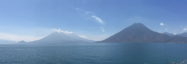 View of Lake Atitlan from San Marcos la Laguna