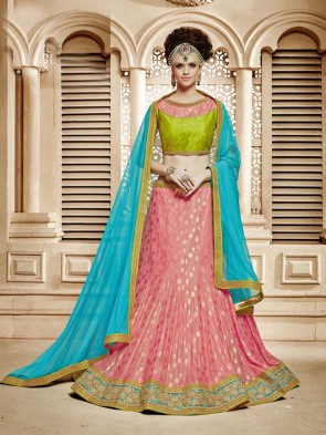 Innovative Peach Lehenga Choli