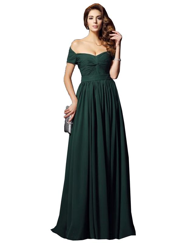 LaceShe Women's Off Shoulder Stunning Bridesmaid Dress