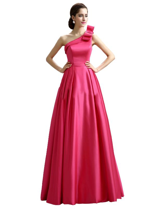 LaceShe Women's Satin Big Swing Bridesmaid Dress