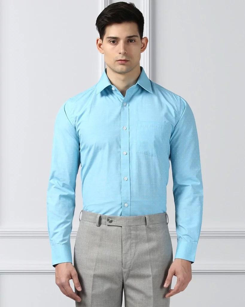 Next Look Medium Petrol Regular Fit Shirt