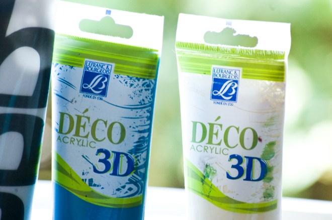 Akrylfärger med 3D effekt, 80kr/st på Kreatima