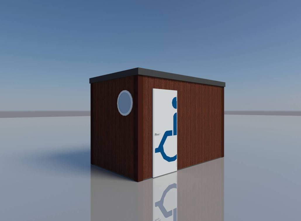 bagno pubblico legno