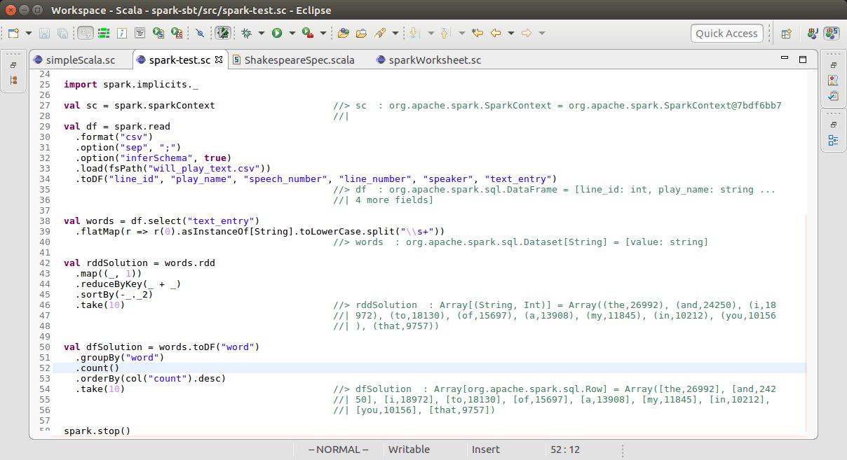 Running Spark On Scala Worksheet