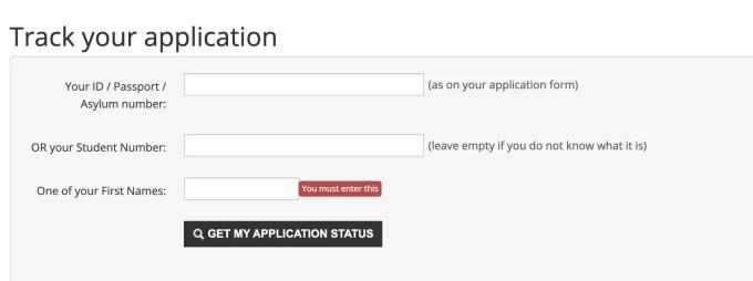 CPUT Application. Status