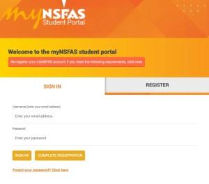 NSFAS Student Portal