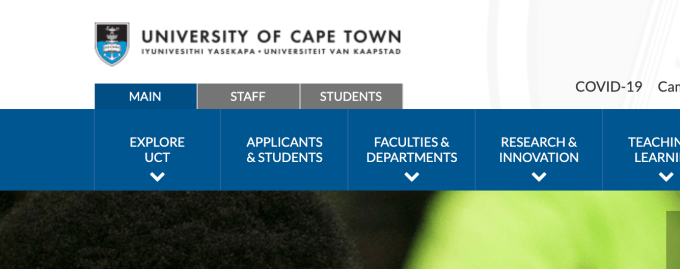UCT Online Applications 2022   Apply to University of Cape Town