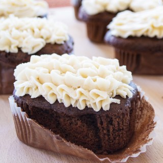 Chocolate Buttermilk Cake with Brown Butter Frosting