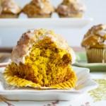 Iced Pumpkin Muffins