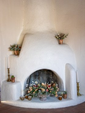Beehive fireplace in the Adobe House