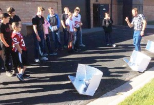 North Sanpete Middle School students made convection solar ovens under the instruction of Corby Briggs.